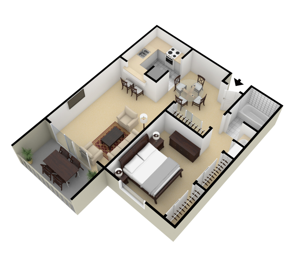 One two bedroom apartments for rent springwood apartments for 10 by 10 room layout