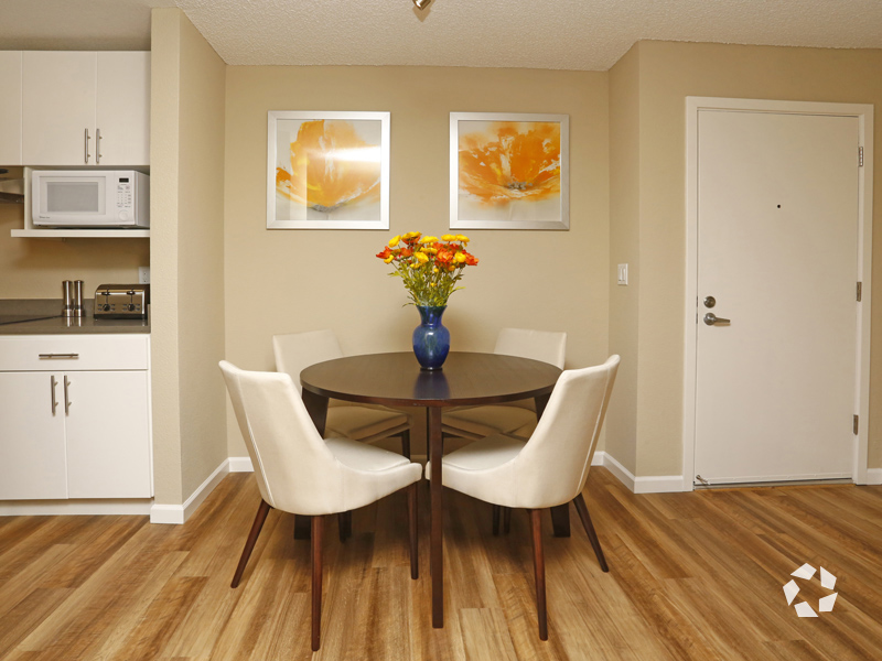 Wood Floors in Dining Area