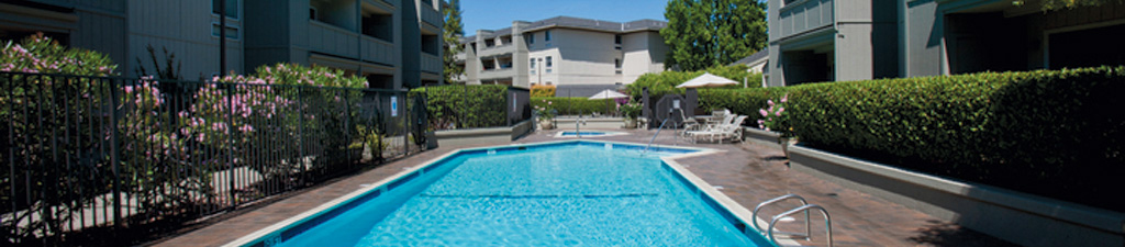 Gated Pool at Springwood Apartments